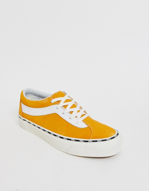 Image 1 of Vans Bold sneakers with side tape in yellow