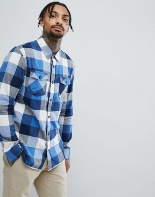 Vans Box Flannel Shirt In Blue