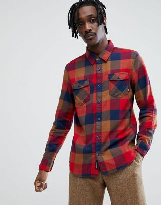 Vans Box Flannel Shirt In Red