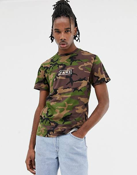 ab05bc7bb0a Vans camo t-shirt with back print in green VN0A3HREC9H1