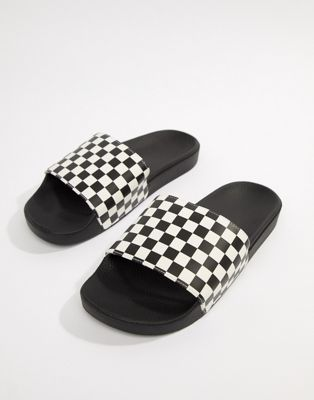 Vans Checkerboard Sliders In Black V4KIIP9