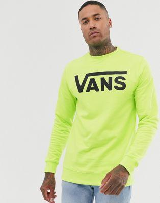 Vans classic logo sweatshirt in neon green