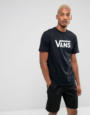 Image 1 of Vans Classic logo t-shirt in black vgggy28