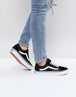 Vans Classic Old Skool Trainers In Black And White