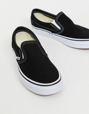 Image 1 of Vans Classic Slip-On black sneakers