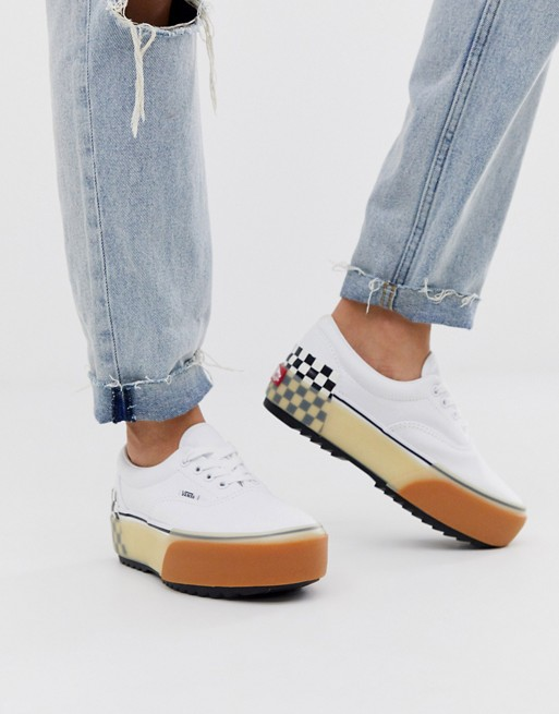 Vans Era Stacked white trainers