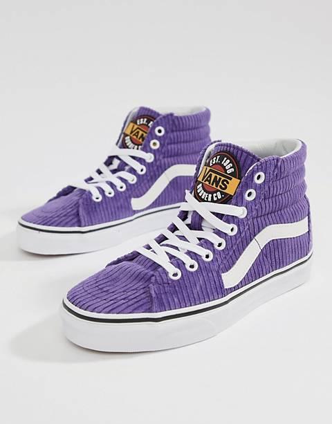 Vans Exclusive Purple Corduroy Sk8-Hi Sneakers