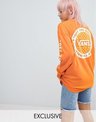 Vans Exclusive To ASOS Oversized Long Sleeve T-Shirt In Orange