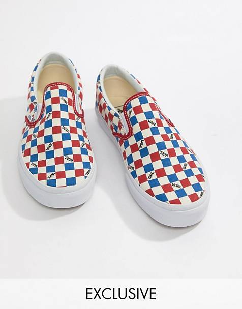 2332ff6d0e64ee Vans - Factory Pack - Instapsneakers met dambordprint in rood