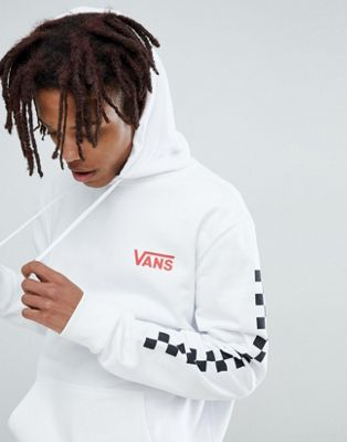 Vans Heritage Hoodie With Arm Print In White