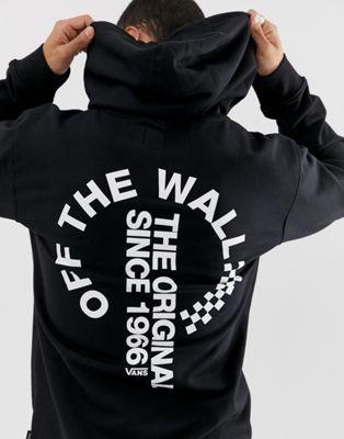 Image 1 of Vans hoodie with back print in black