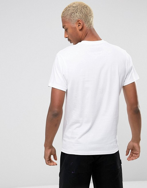 ba42a945bb9 Vans off the wall logo t-shirt in white vjayyb2 | ASOS