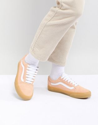 Vans - Old Skool - Baskets avec semelle en caoutchouc - Orange pastel