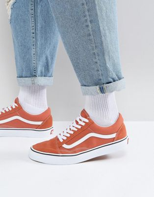 Vans Old Skool Trainers In Orange VA38G1QSP