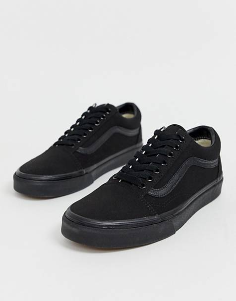 49ddfceeea Vans Old Skool trainers in triple black