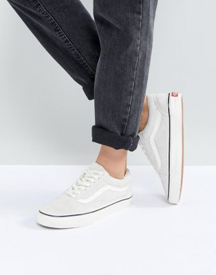 Image 1 of Vans Old Skool Unisex Sneakers In Cream Suede