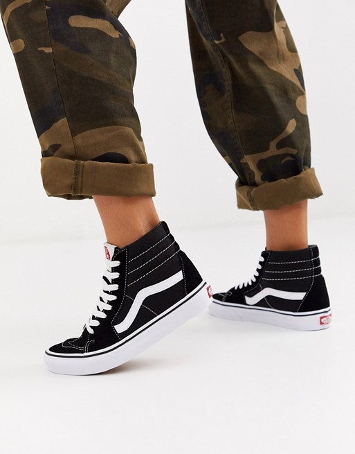 Image 1 of Vans SK8-Hi black sneakers