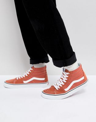 Vans Sk8-Hi Trainers In Orange VA38GEQSP