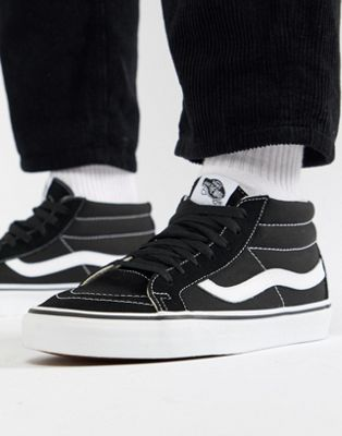Vans Sk8-Mid Reissue Sneakers In Black VA391F6BT
