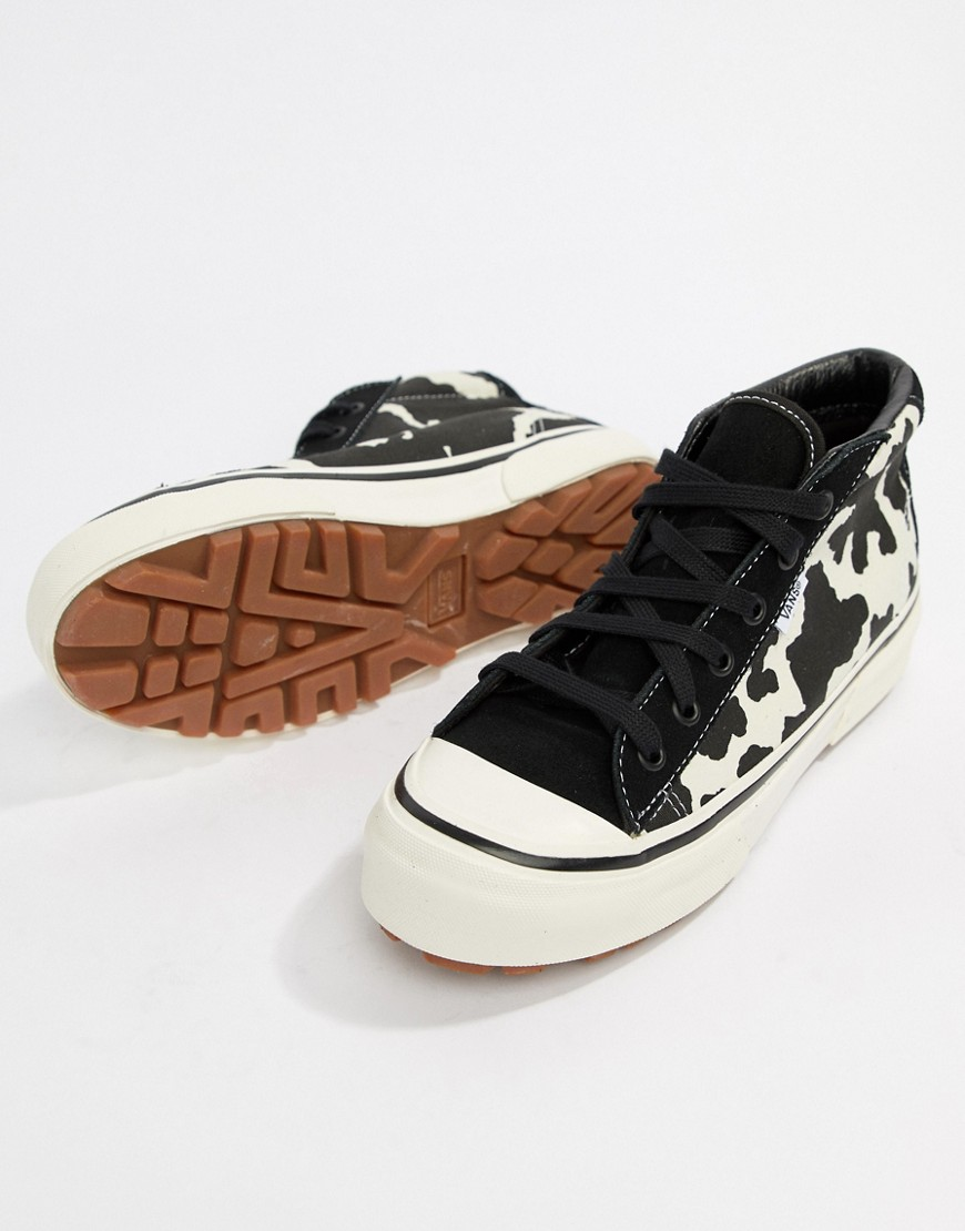 Vans Style 29 Mid Dx Cow Print Sneakers by Vans
