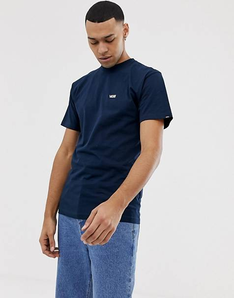 2a2e70c2fb71 Vans - T-shirt à petit logo - Bleu marine