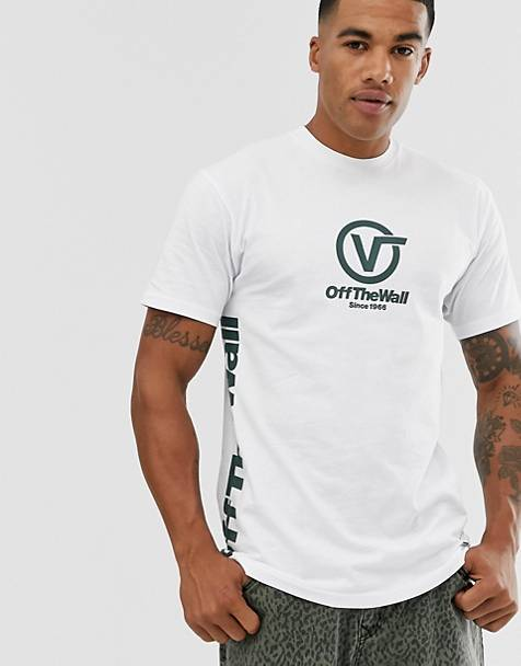Vans t-shirt in white with off the wall print
