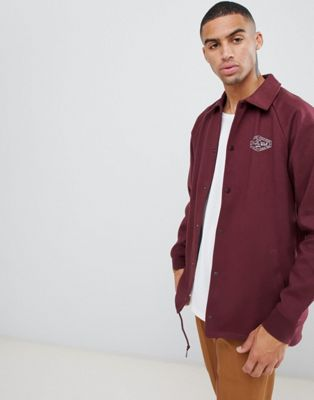 Image 1 of Vans Torrey Fleece coach jacket In Burgundy