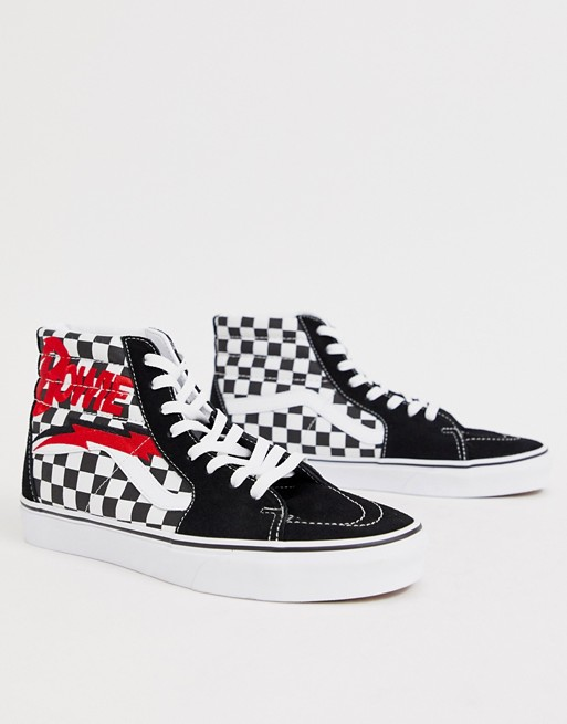 Image 1 of Vans x David Bowie Sk8-Hi sneakers in black