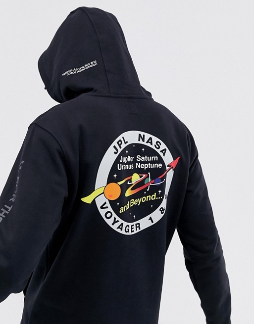 Vans x Space Voyager hoodie with back print in black VN0A3J2IBLK1
