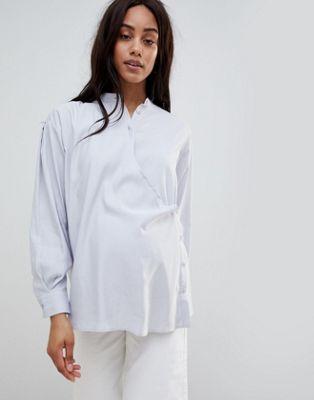 Ventetøjs slå-om-skjorte fra ASOS WHITE