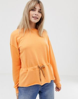 Vero Moda Bright Sweatshirt With Tie Waist