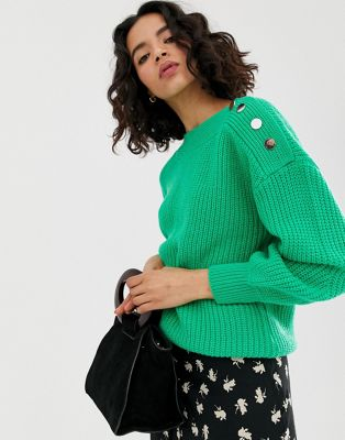 Image 1 of Vero Moda button shoulder sweater