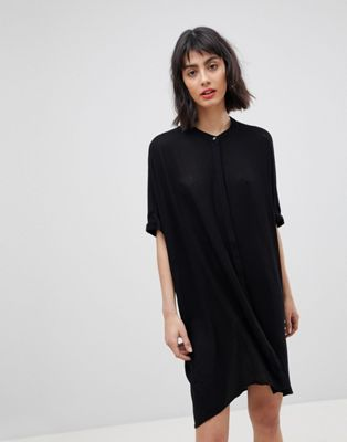 Vero Moda Collarless Shirt Dress