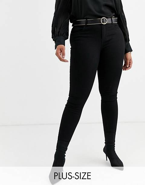 Vero Moda Curve skinny denim jeans in black