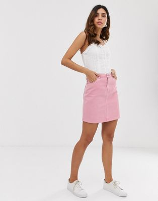 Image 1 of Vero Moda denim mini skirt in pink