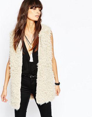 Image 1 of Vero Moda Faux Fur Gilet