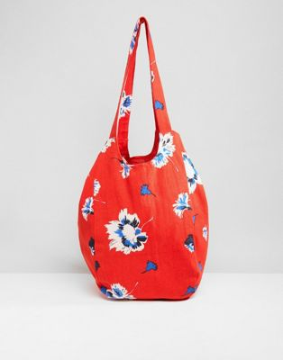 Vero Moda Floral Beach Bag