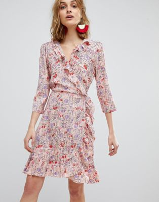 Vero Moda Frill Wrap Dress