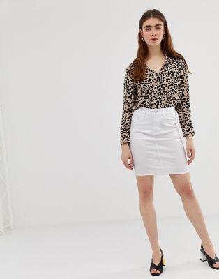 Image 1 of Vero Moda high waist denim pencil skirt