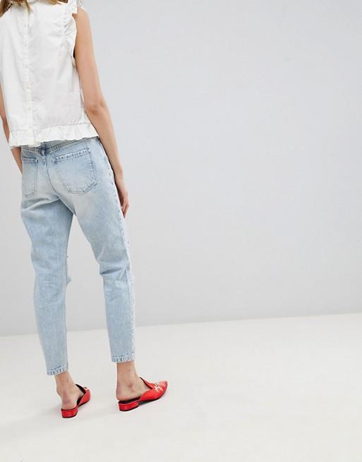 Look Moda hellesjeansblau Used im Vero Mom Jeans f7SSw