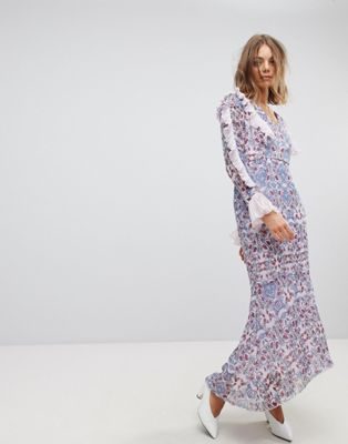 Vero Moda Paisley Print Maxi Dress With Ruffles