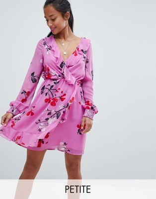 Vero Moda Petite Floral Wrap Dress