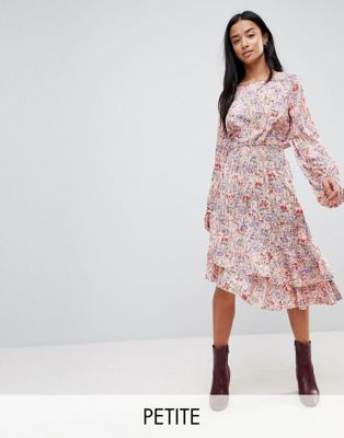 Vero Moda Petite Paisley Printed Asymetric Dress