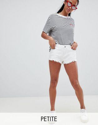 Bild 1 von Vero Moda Petite – Shorts mit Fransensaum