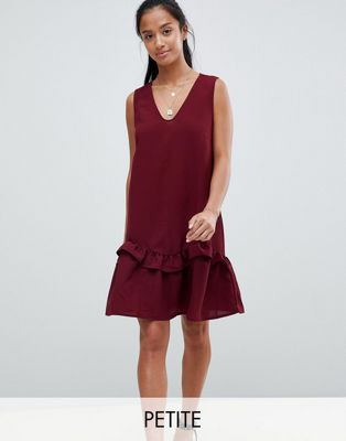 Vero Moda Petite Sleeveless Frill Hem Dress