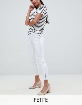 Vero Moda Petite Super Skinny Jean With Ankle Zip