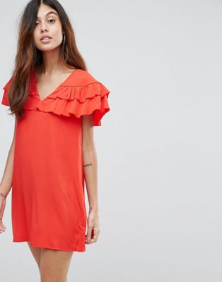 Vero Moda Ruffle Panel Dress