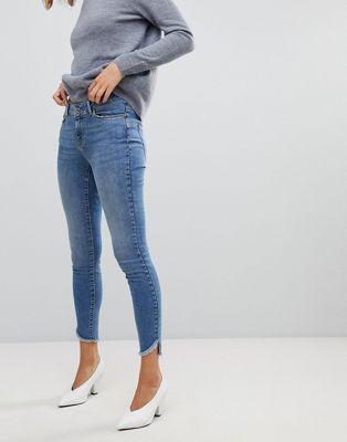 Vero Moda - Skinny jeans met onafgewerkte zoom