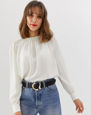 Vero Moda smocked high neck top