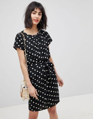 Vero Moda Spotty Waist Tie Dress